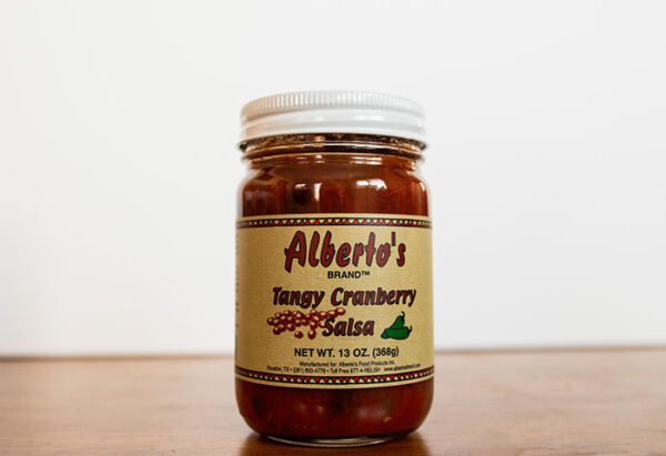 tangy cranberry salsa jar